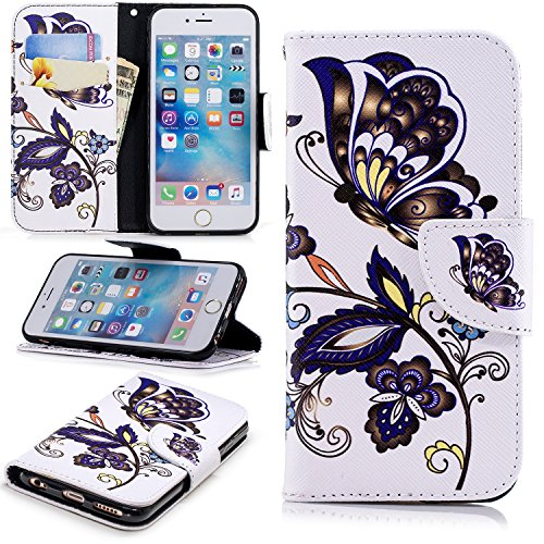 iPhone 6s Case, iPhone 6 Case, Dooge [Kickstand Feature] Premium PU Leather Folio Flip Protective Wallet Case with Cash Card Slots Holder/Magnetic Closure for iPhone 6s/6