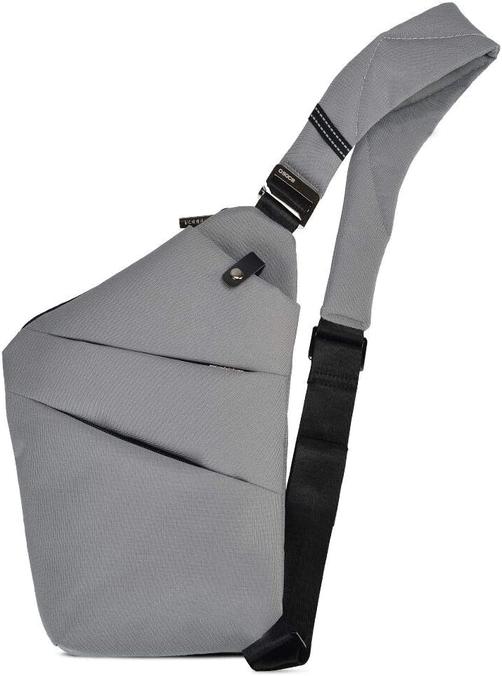 OSOCE Casual Simple Chest Bag - Small Chest Shoulder Crossbody Backpack for Men & Women (Grey)