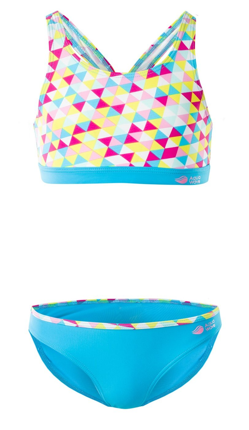 AquaWave Kinder Bikini Badeanzug Zweiteilig für Mädchen - Perfekt für Meer und Pool - Rodani Jr