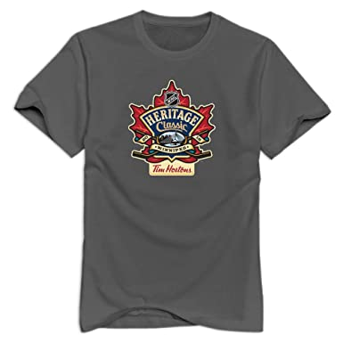 adac2fe32 Amazon.com: Men's 2016 Tim Hortons Heritage Classic Logo Cotton T ...