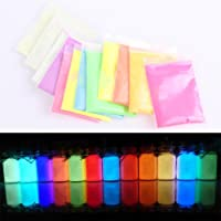 Niome Candy Colors Fluorescent Super Bright Glow in the Dark Powder Luminous Pigment Blue