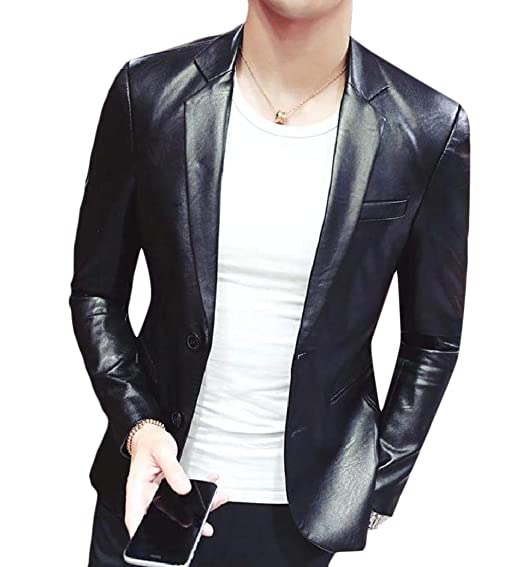 Détails sur Homme Pour Blazer Noir 3 Boutons Classique Ajusté Veste Cuir Italien Manteau