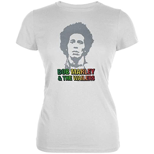 d58c316dfdbe4 Amazon.com: Bob Marley - Young Bob and the Wailers Soft Juniors T ...