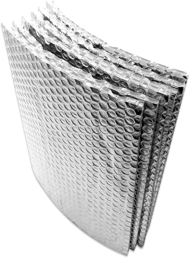 AES Industries 4 x 4 Reflective Bubble Foil Insulation for Car Van Truck RV SUV Windshield