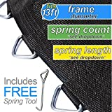 "Trampoline Pro Replacement Mats that fit 10ft, 12ft, 13ft, 14ft and 15ft Frames - Many Shapes! (Fits 13ft Round Frames, 80 Rings - Using 5.5"" Springs - 139"" Mat Diameter)"