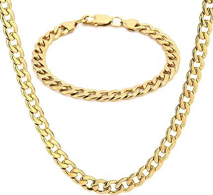 cadena de Acero inoxidable para Hombres Colgante moda de Lujo Joyería de Plata