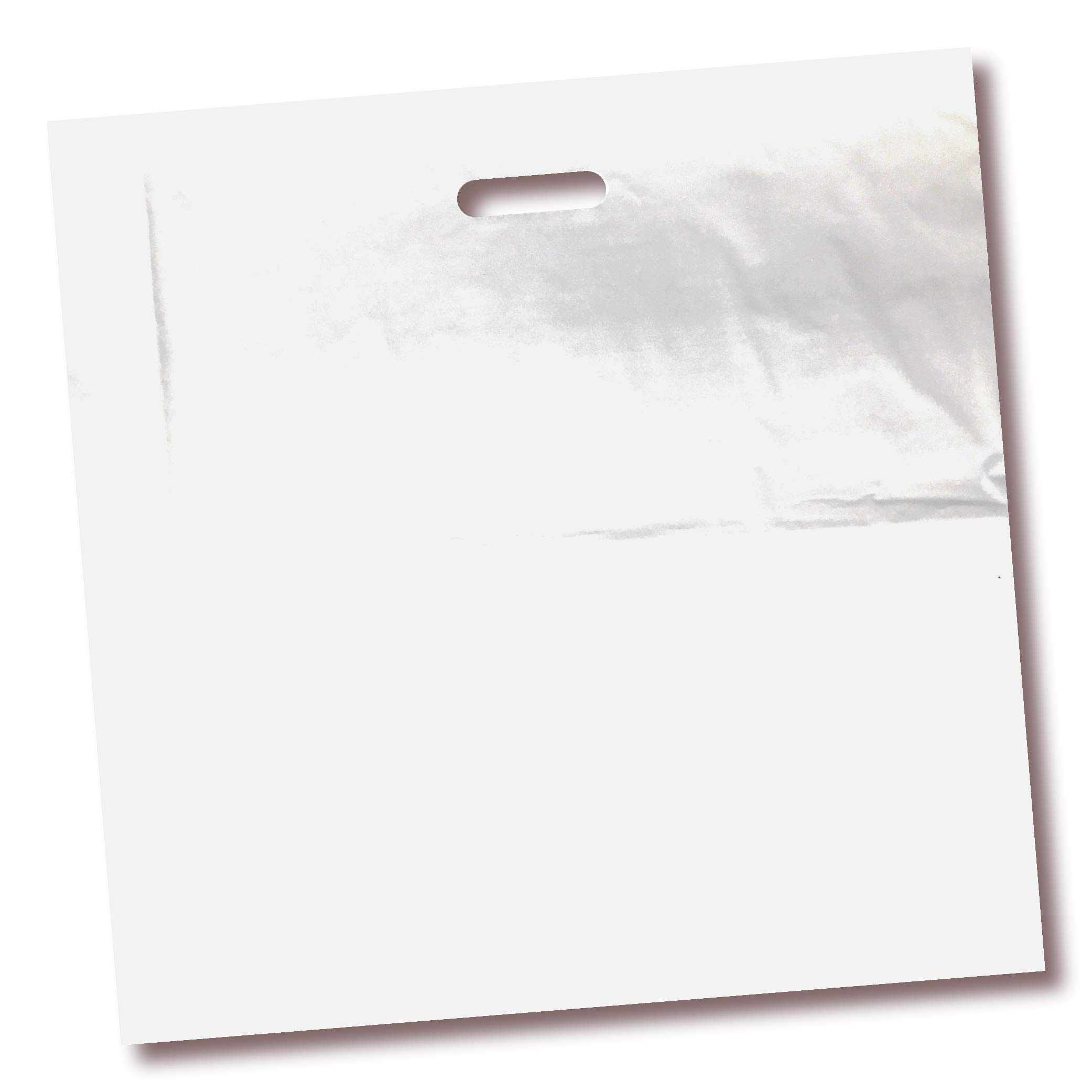 100 Pack 20'' x 20'' with 2 mil Thick Extra Large White Merchandise Plastic Glossy Retail Bags | Die Cut Handles | Perfect for Shopping, Large Packages, Children Toys | Color White | 100% Recyclable by Popular Plastic Bags (Image #1)