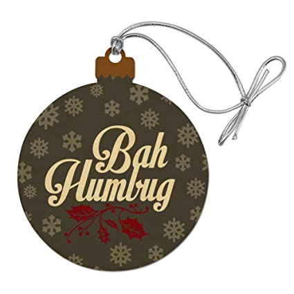 Bah Humbug Christmas Funny Wood Christmas Tree Holiday Ornament - Amazon.com: Bah Humbug Christmas Funny Wood Christmas Tree Holiday
