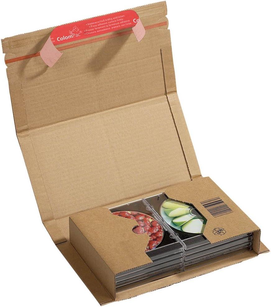 Scatola da pacchi da assemblare in cartone ondulato colore: Marrone 251 x 165 x 60 mm ColomPac CP020.04