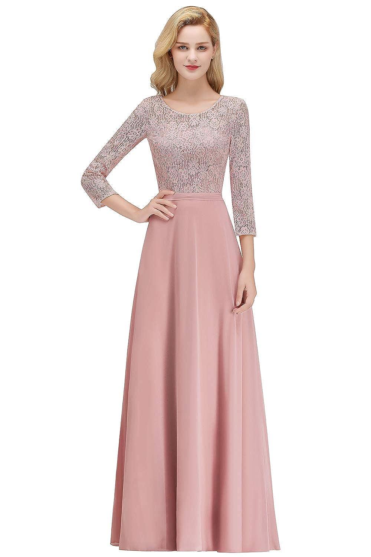 11e0339673 Pink Long Sleeve Bridesmaids Dresses | Saddha