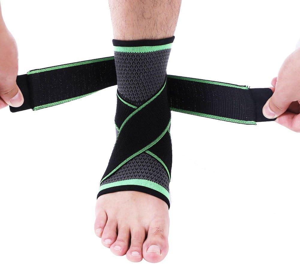 Delaman調節可能な足首プロテクター保護ガード圧縮スポーツ膝パッド足ケアナイロンサポートブレース XL