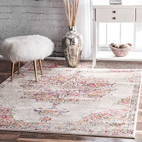Shaw Rugs Indian Rug (nuLOOM Vintage Persian Medallion Pink Rug (5' x 7'5))