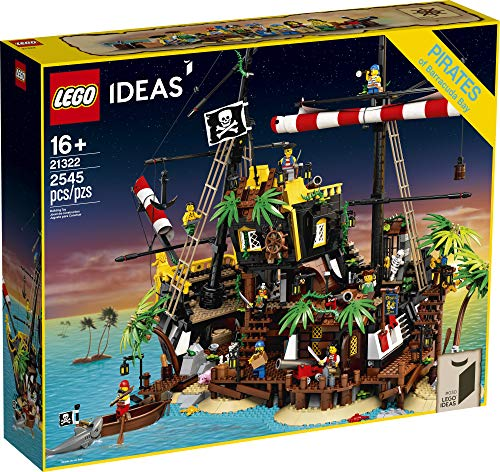 LEGO Ideas Pirates of Barracuda Bay 21322 Building Kit, Cool Pirate Shipwreck Model with Pirate Action Figures for Play…