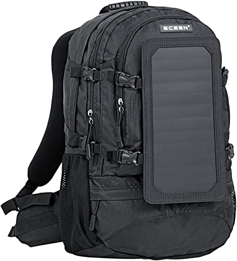 Eceen Solar Backpack with 7W Solar Panel Charge