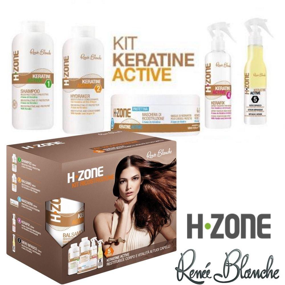 Kit Keratine Active - Ricostruzione alla Keratina H-Zone Renèe Blanche