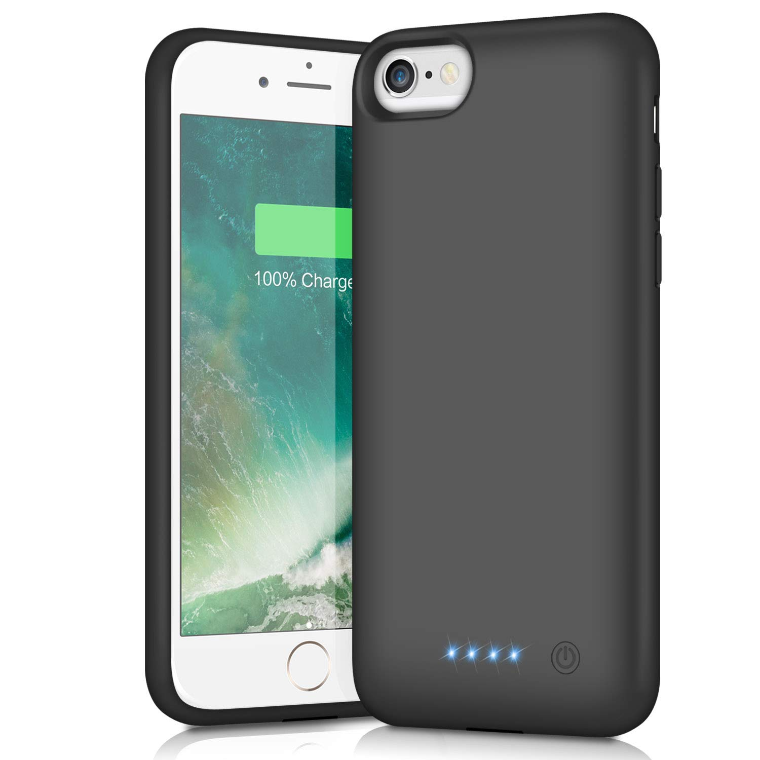 Battery Case for iPhone 6s 6, Xooparc 6000mAh Protective Portable Charging Case Rechargeable Extended Battery Pack for Apple iPhone 6/6s(4.7' ) Backup Power Bank Cover - Black youjupin