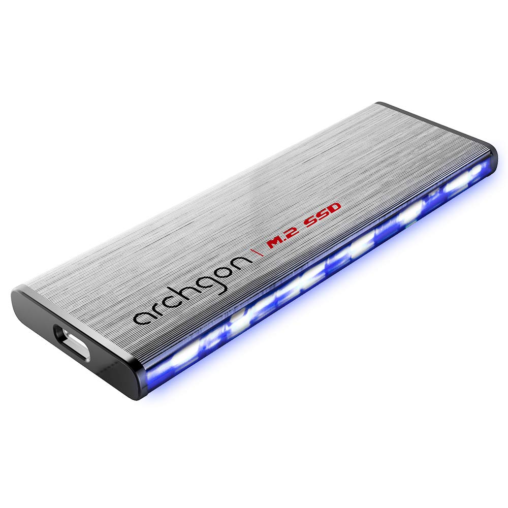 Archgon C50 Series Portable External USB 3.1 Gen 2 M.2 SSD (120GB, C502LK)