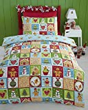 Kids Club Jolly Gingerbread Reversible Duvet Cover Set, Multi, Cot Bed