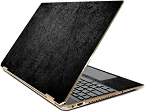 "MightySkins Skin Compatible with HP Spectre x360 15.6"" Gem-Cut (2019) - Black Leather 