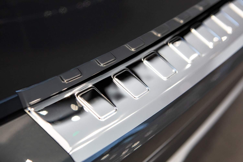 tuning-art L234 Protection de seuil de Coffre de Chargement en Acier Inoxydable avec Profil 3D et Bord Arrondi Couleur en Acier Inoxydable:Argent Brillant