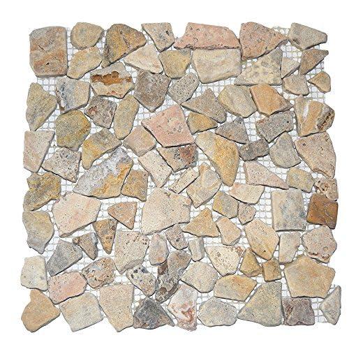 chic River Rocks Stone Mosaic Tile Tumbled 5 sqf box