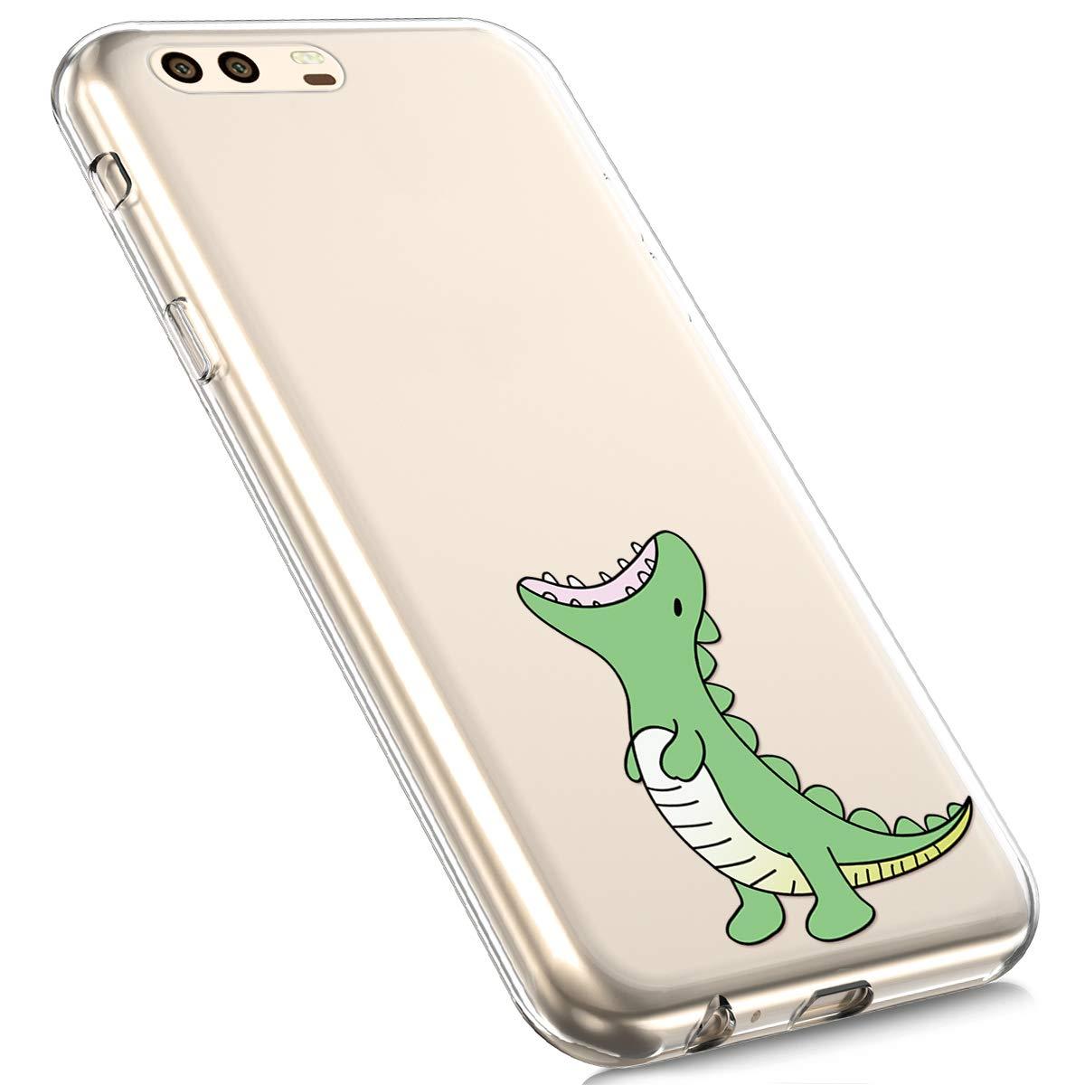 Funda Compatible con Huawei P10 Plus Carcasa Transparente Silicona,Ultra-Delgado Fina Suave Anti-ara/ñazos Crystal Clear Silicona TPU Cover 3D Pintado Patr/ón Slim Case.Elefante