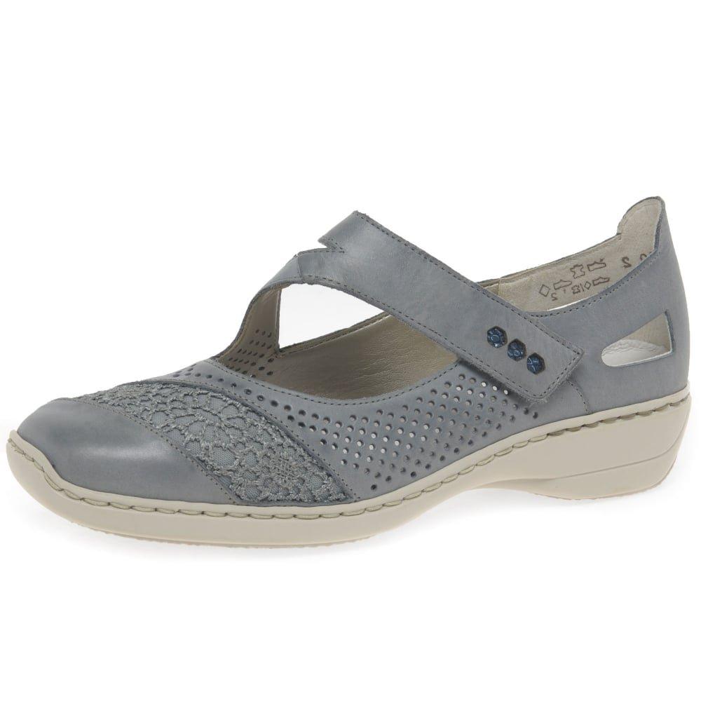 Rieker Roya Womens Mary Jane Shoes B079G83RDC 38 M EU|White