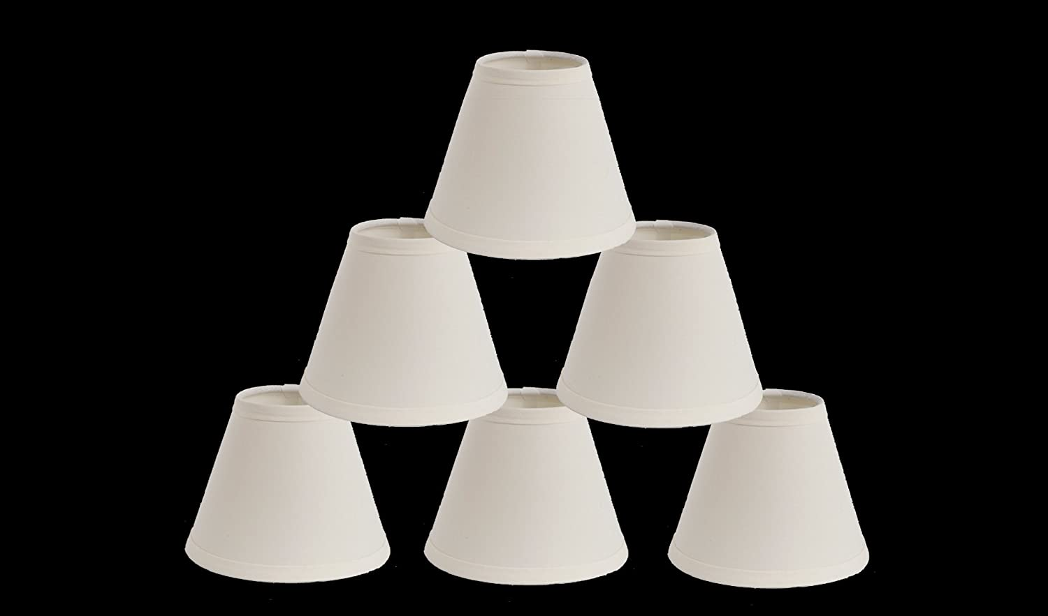 Captivating Urbanest 1100327c Mini Chandelier Lamp Shades 6 Inch, Cotton, Hardback,  Clip On, Eggshell (Set Of 6)     Amazon.com