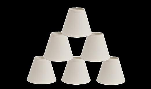 Urbanest 1100327c mini chandelier lamp shades 6 inch cotton urbanest 1100327c mini chandelier lamp shades 6 inch cotton hardback clip on eggshell set of 6 amazon aloadofball Gallery