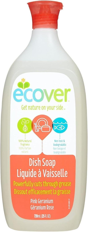 Ecover Liquid Dish Soap, Pink Geranium, 25 Ounce
