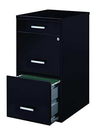 Space Solutions Metal File Cabinet With Pencil Drawer And Lock
