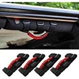 Savadicar 4 x Roll Bar Grab Handles Grip Handle for Jeep Wrangler YJ TJ JK JL & Gladiator JT 1987-2020, Interior…