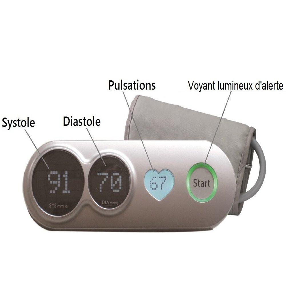 Tensiómetro de brazo para pantallas de corazones %2F-indicador digital hipertensión.: Amazon.es: Salud y cuidado personal