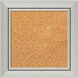 Framed Cork Board, Choose Your Custom Size, Romano Silver Wood