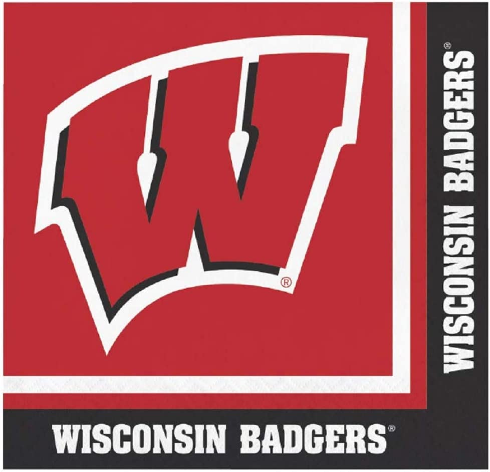 Wisconsin Badgers Lunch Napkins, 60 Count
