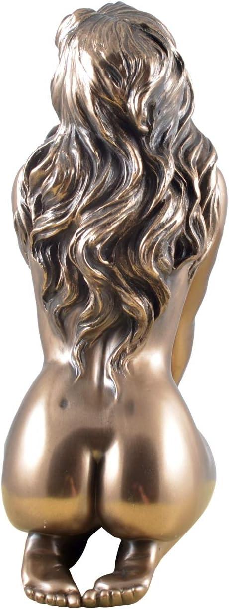 Mme femelles akt conformit/é se fonde sur fond sculpture statue bronz/é