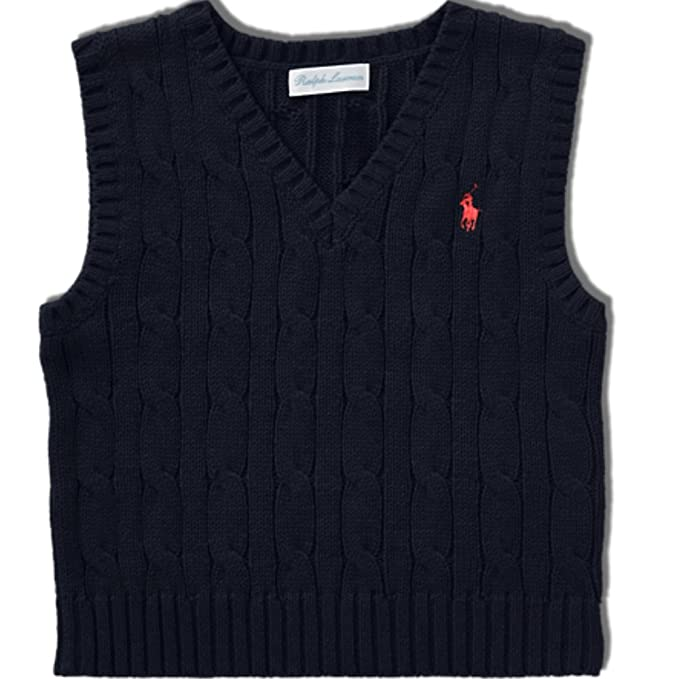 elegant and graceful offer offer Ralph Lauren Baby Boys Cable Knit Sweater Vest (12 m ...