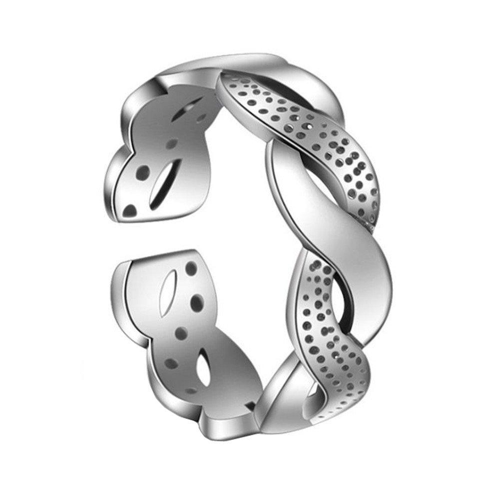 Outflower 1pcs Retro anello a spirale intrecciato anello aperto anello femminile moda partito gioielli regalo di compleanno