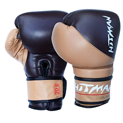Buy Hitman Gb04603 Pu Strike Boxing Gloves 12 Oz Brown Online At Low Prices In India Amazon In