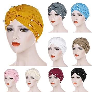 Women Muslim Indian Hat Turban Cancer Chemo Hair Loss Cap Ladies Headwrap Scarf