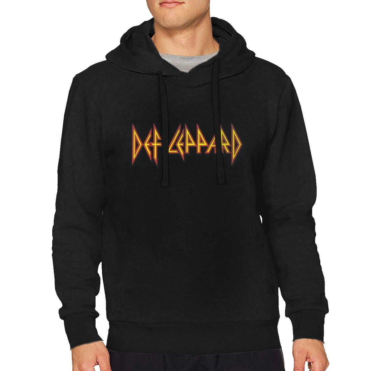 Def Leppard Men Long Sleeves Black