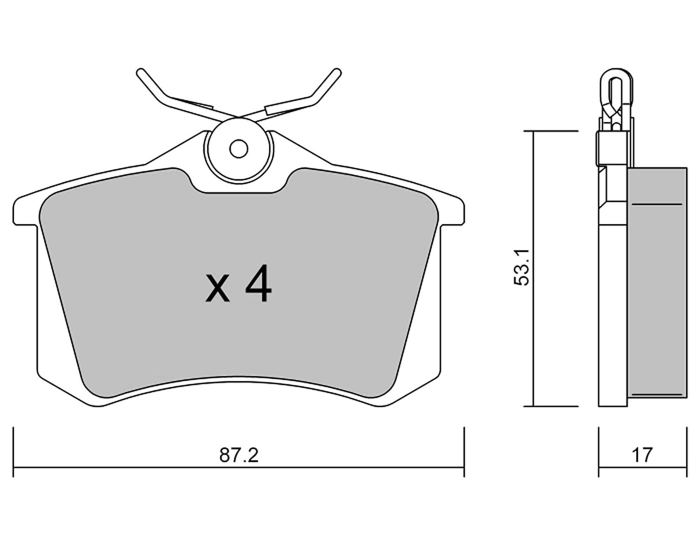 ECE R90-zertifiziert MADE IN ITALY METELLI 22-0100-1 BREMSBEL/ÄGE Vorne und Hinten Ersatzteile f/ür Autos Kupferfrei