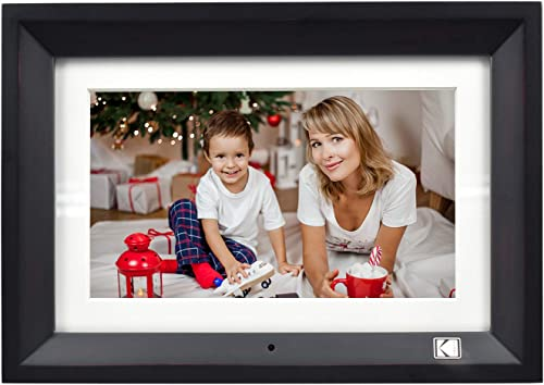 KODAK Wood Digital Picture Frame 10 inch 8GB Memory with Remote Control High Resolution Digital Photo Frame