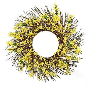 Wedding Wreath Fake Flower Artificial Wreath Door Wreath for Garden Yard Decor 97