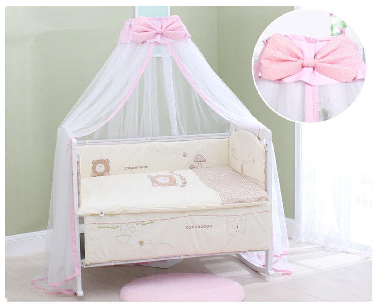 Canopy redondo Corbata de moño Mosquitera infantil para bebés con ...