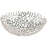 Ethan Allen Round Coral Bowl, Nickel