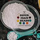 Vita White Floam Beads For Slime - Crunchy Slime - Prime Made in USA - Mini 2-4mm - Reusable 8oz Container