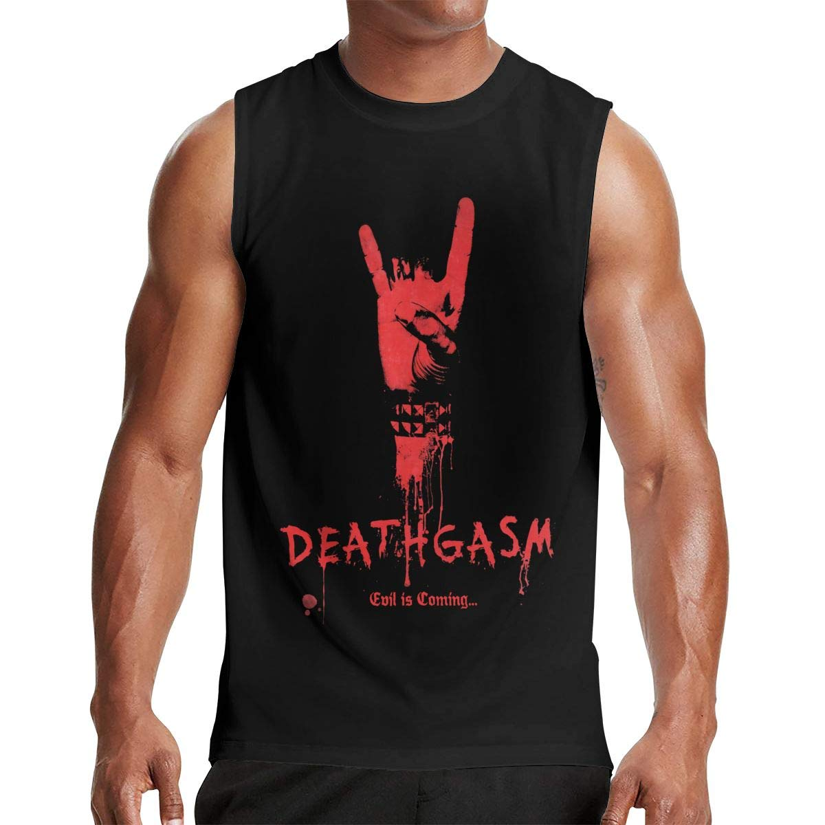 Thomlarryca Deathgasm S Gym Muscle T Shirt Classic Athletic Sleeveless T Shirts Black