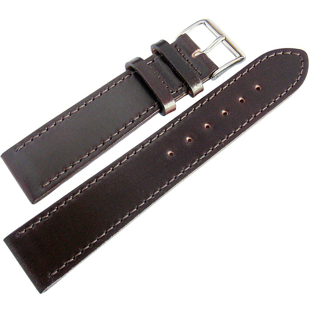 Fluco Shell Cordovan 18mm Brown Leather Watch Strap