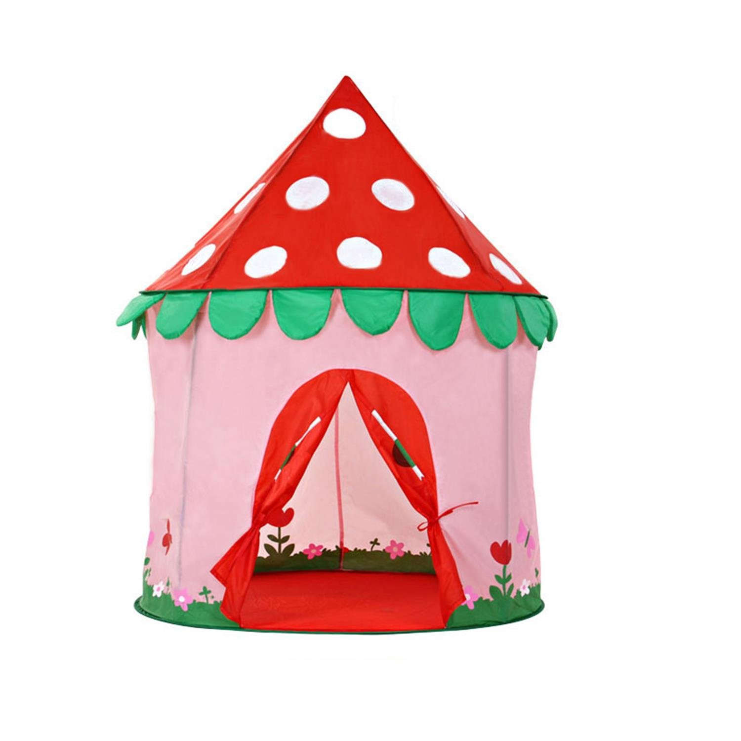 ALPIKA Strawberry Castle Playhouse, Indoor and Outdoor Kids Play Tent with Free Carrying Bag